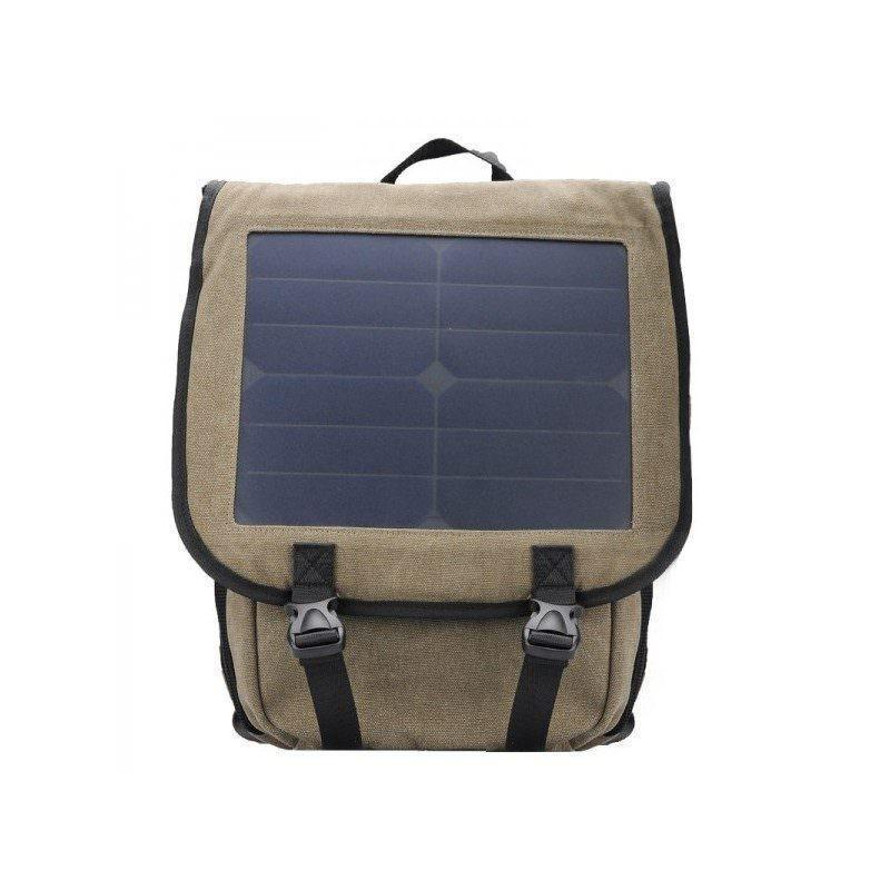 Прочный рюкзак с монокристаллической солнечной панелью 10 Вт для ноутбука, планшета, телефона (22% эффективность, выход 6V 2A)