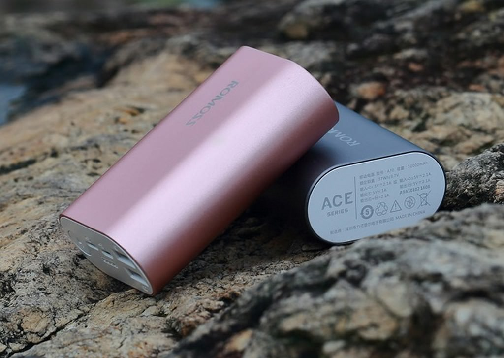 28523 - Power Bank Romoss ACE A10 - 10000 мАч, 2 х USB, Micro USB + Lightning, индикатор заряда