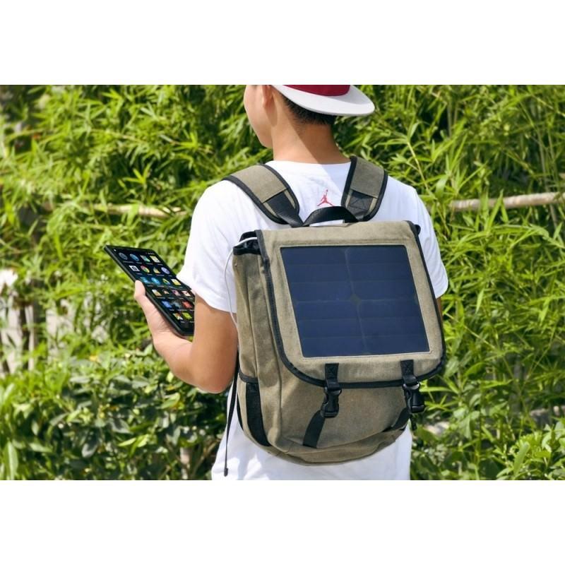 Прочный рюкзак с монокристаллической солнечной панелью 10 Вт для ноутбука, планшета, телефона (22% эффективность, выход 6V 2A) 185792