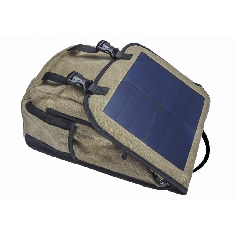 Прочный рюкзак с монокристаллической солнечной панелью 10 Вт для ноутбука, планшета, телефона (22% эффективность, выход 6V 2A) 185796