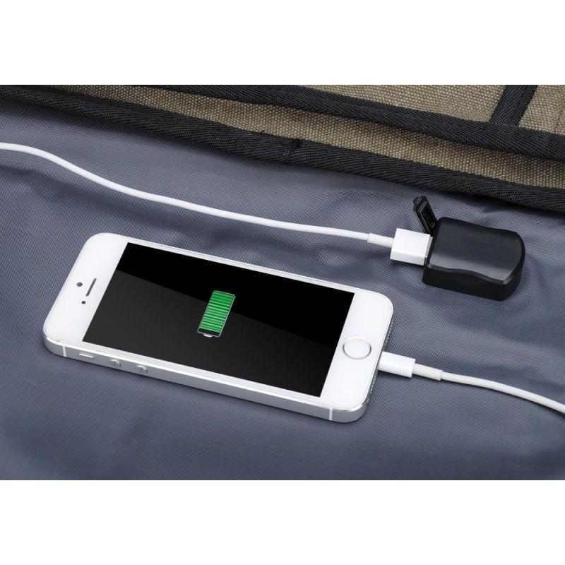 Прочный рюкзак с монокристаллической солнечной панелью 10 Вт для ноутбука, планшета, телефона (22% эффективность, выход 6V 2A) 185797