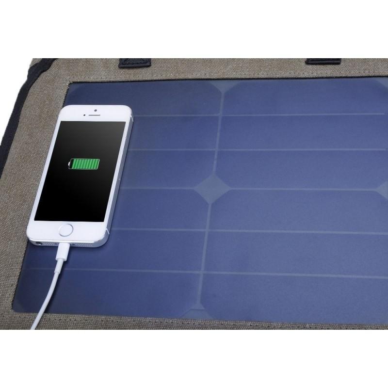 Прочный рюкзак с монокристаллической солнечной панелью 10 Вт для ноутбука, планшета, телефона (22% эффективность, выход 6V 2A) 185798