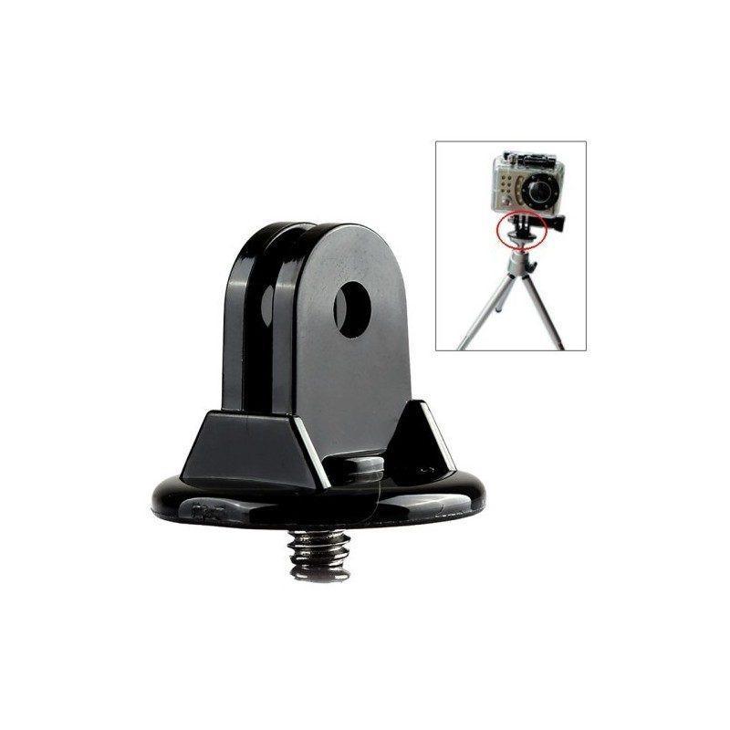 Мини-переходник с винтом для крепления камер GoPro Hero 4, 3 +, 3, 2, 1 на монопод или штатив, черный