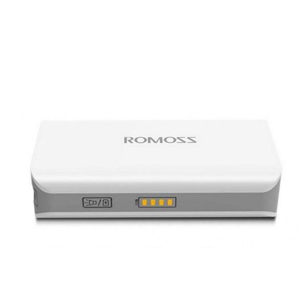 28627 - Компактный Power Bank Romoss Sense 2S - 5 000 мАч, индикатор заряда, фонарик