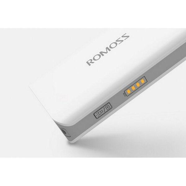 28630 - Компактный Power Bank Romoss Sense 2S - 5 000 мАч, индикатор заряда, фонарик