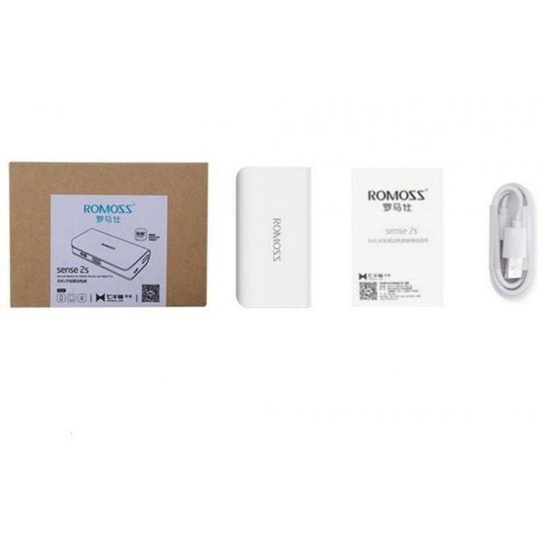 28632 - Компактный Power Bank Romoss Sense 2S - 5 000 мАч, индикатор заряда, фонарик