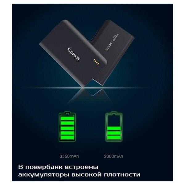 28645 - Универсальный мощный Power Bank Romoss Sense X - 10 000 мАч, 2 х USB, индикатор заряда, 5V/9V/12V, фонарик