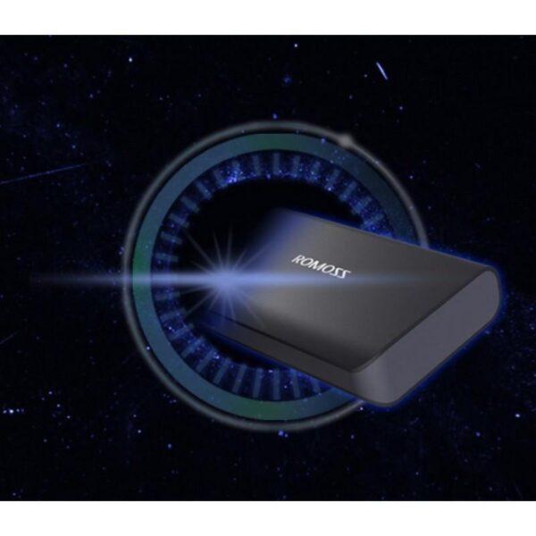 28646 - Универсальный мощный Power Bank Romoss Sense X - 10 000 мАч, 2 х USB, индикатор заряда, 5V/9V/12V, фонарик