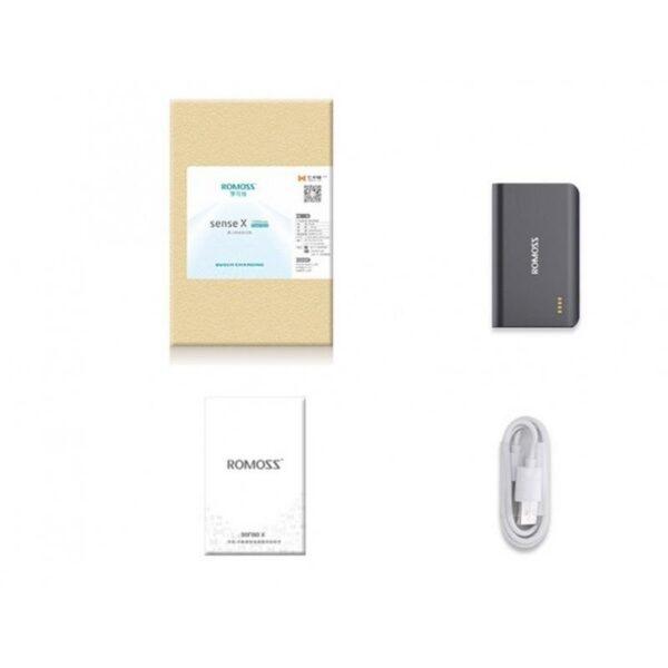 28648 - Универсальный мощный Power Bank Romoss Sense X - 10 000 мАч, 2 х USB, индикатор заряда, 5V/9V/12V, фонарик