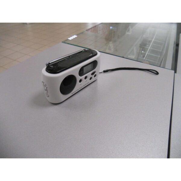 28651 - Радиоприемник-зарядное Road 612 с динамо-машиной и солнечной батареей + фонарик : 3 способа питания