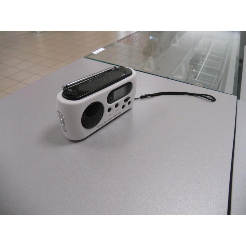 Радиоприемник-зарядное Road 612 с динамо-машиной и солнечной батареей + фонарик : 3 способа питания 205534