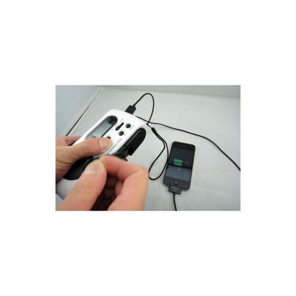 28653 - Радиоприемник-зарядное Road 612 с динамо-машиной и солнечной батареей + фонарик : 3 способа питания