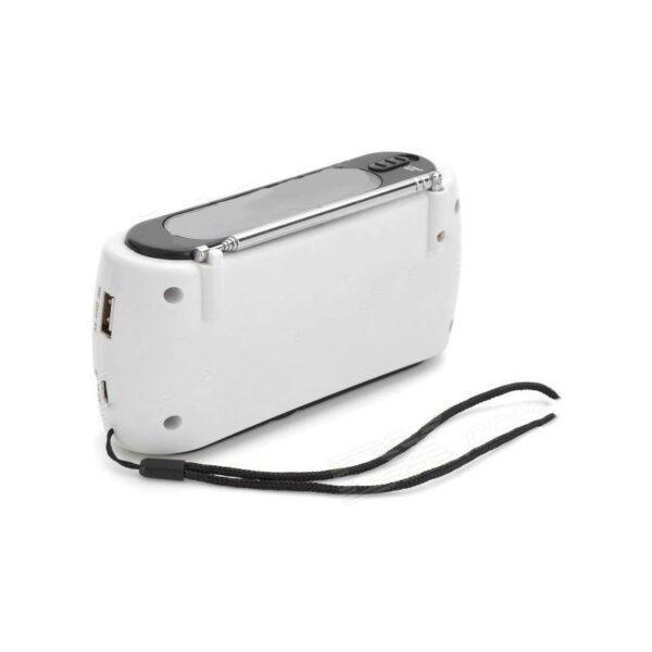 28656 - Радиоприемник-зарядное Road 612 с динамо-машиной и солнечной батареей + фонарик : 3 способа питания