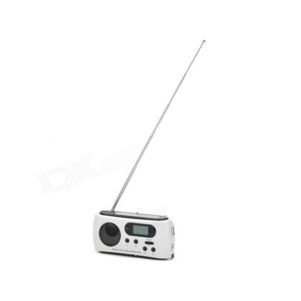 28657 - Радиоприемник-зарядное Road 612 с динамо-машиной и солнечной батареей + фонарик : 3 способа питания