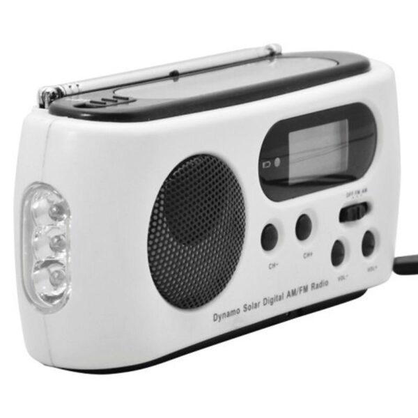 28662 - Радиоприемник-зарядное Road 612 с динамо-машиной и солнечной батареей + фонарик : 3 способа питания