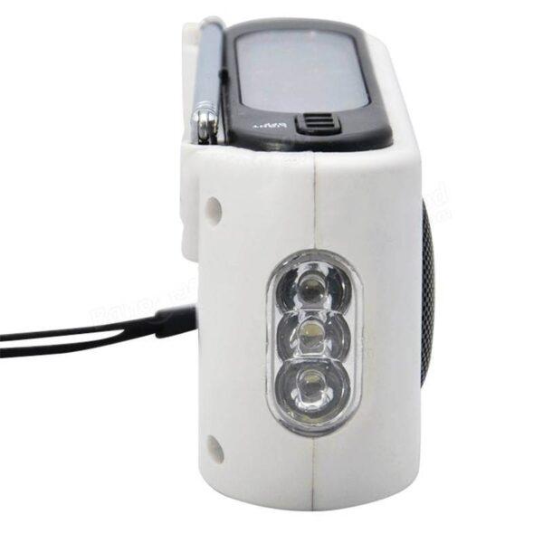 28663 - Радиоприемник-зарядное Road 612 с динамо-машиной и солнечной батареей + фонарик : 3 способа питания