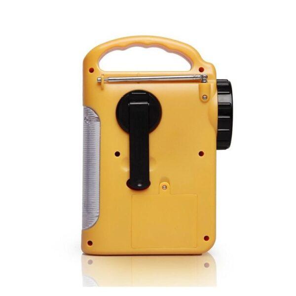 28684 - Многофункциональный приемник-USB-зарядное+лампа дневного света MoonLight: солнечная батарея, динамо-машина, сирена MoonLight