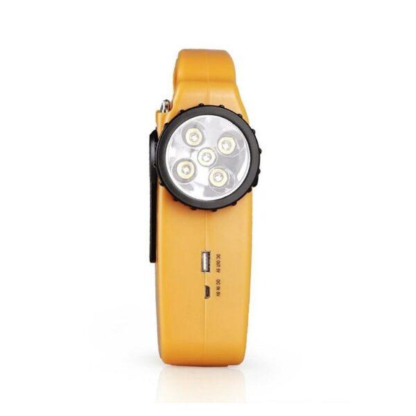 28685 - Многофункциональный приемник-USB-зарядное+лампа дневного света MoonLight: солнечная батарея, динамо-машина, сирена MoonLight