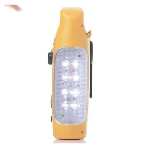 28687 - Многофункциональный приемник-USB-зарядное+лампа дневного света MoonLight: солнечная батарея, динамо-машина, сирена MoonLight