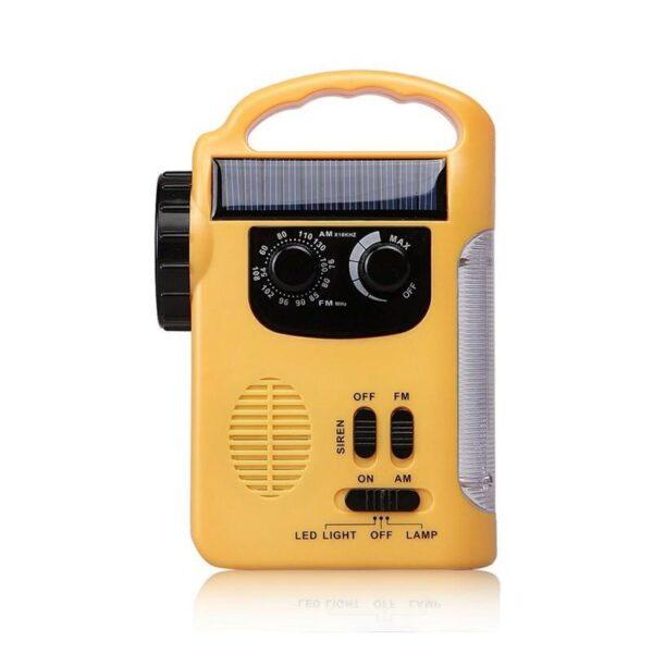 28688 - Многофункциональный приемник-USB-зарядное+лампа дневного света MoonLight: солнечная батарея, динамо-машина, сирена MoonLight