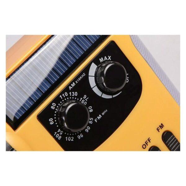 28690 - Многофункциональный приемник-USB-зарядное+лампа дневного света MoonLight: солнечная батарея, динамо-машина, сирена MoonLight