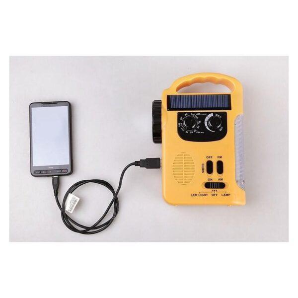 28693 - Многофункциональный приемник-USB-зарядное+лампа дневного света MoonLight: солнечная батарея, динамо-машина, сирена MoonLight