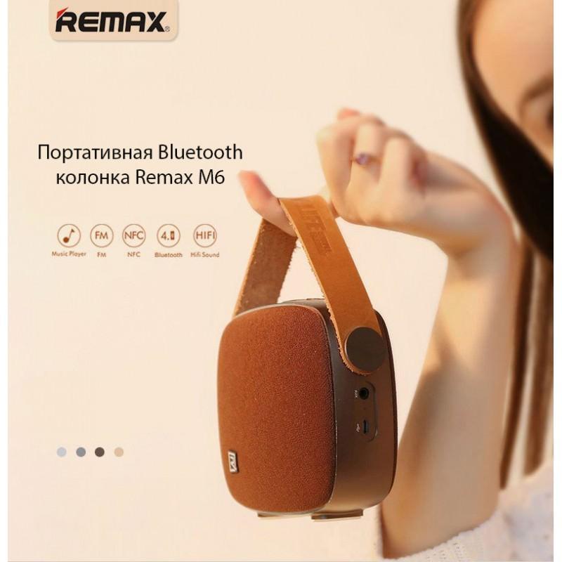 Портативная Bluetooth колонка Remax M6: 5Вт, гарнитура, 6 часов непрерывной работы, Bluetooth 4.1, NFS, iOS/ Android 205578