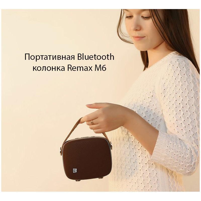Портативная Bluetooth колонка Remax M6: 5Вт, гарнитура, 6 часов непрерывной работы, Bluetooth 4.1, NFS, iOS/ Android 205584