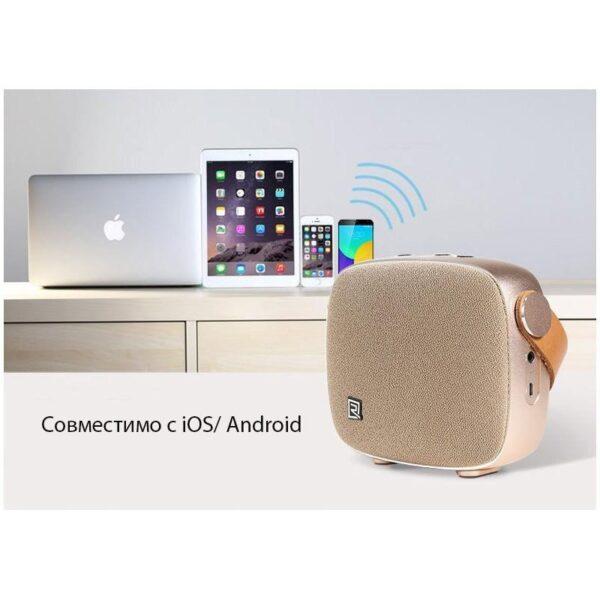 28712 - Портативная Bluetooth колонка Remax M6: 5Вт, гарнитура, 6 часов непрерывной работы, Bluetooth 4.1, NFS, iOS/ Android