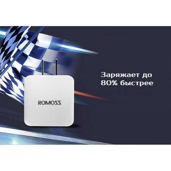 28717 - Адаптер питания Romoss AC10 с поддержкой технологии быстрой зарядки QC2.0 - 5V 2.1A, 9V 1.5A, 12V 1.2A