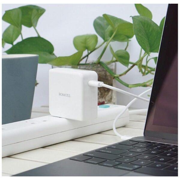 28721 - Адаптер питания Romoss AC29 Type-C для Apple MacBook - 5V 3A, 9V 2A, 14.5V 2A