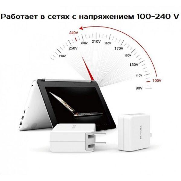 28722 - Адаптер питания Romoss AC29 Type-C для Apple MacBook - 5V 3A, 9V 2A, 14.5V 2A