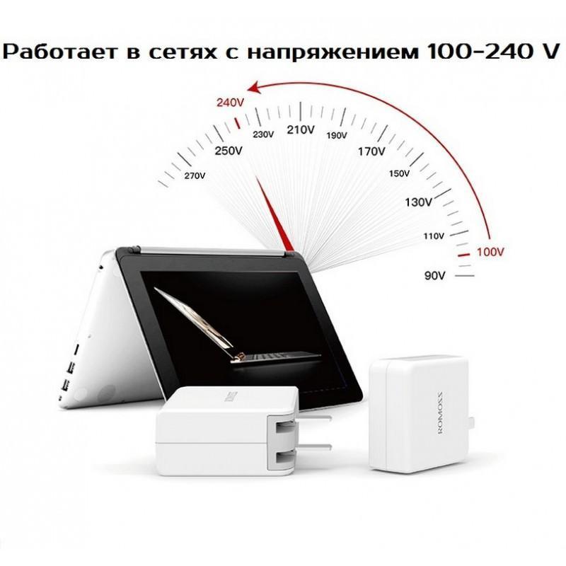 Адаптер питания Romoss AC29 Type-C для Apple MacBook – 5V 3A, 9V 2A, 14.5V 2A 205597