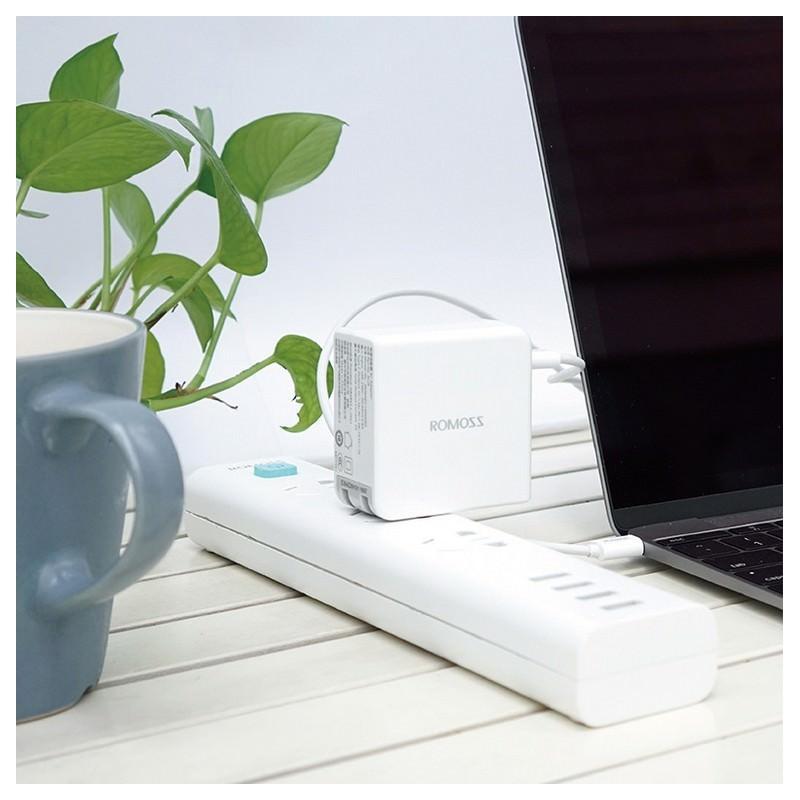 Адаптер питания Romoss AC29 Type-C для Apple MacBook – 5V 3A, 9V 2A, 14.5V 2A 205598
