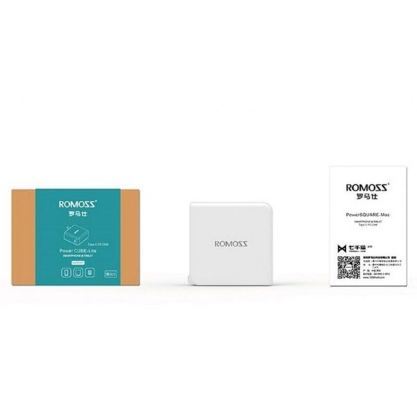 28724 - Адаптер питания Romoss AC29 Type-C для Apple MacBook - 5V 3A, 9V 2A, 14.5V 2A