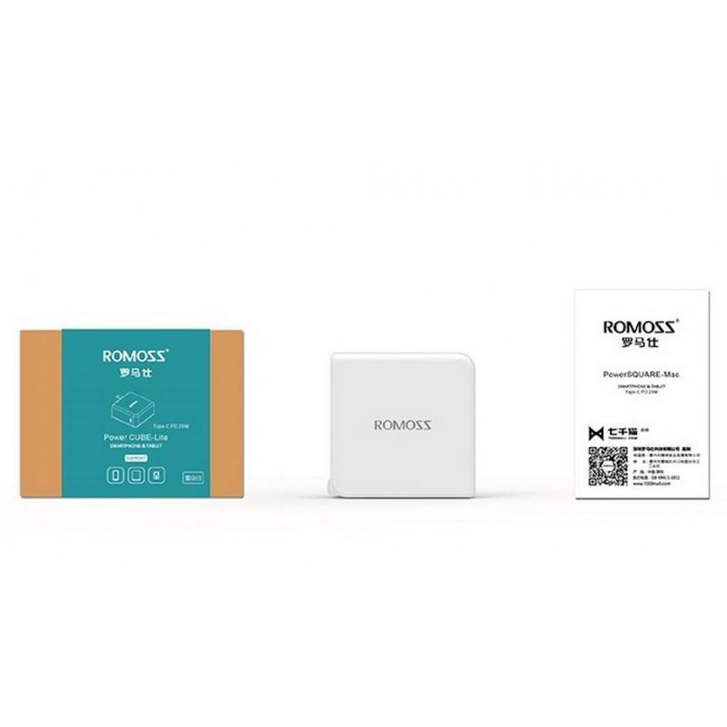 Адаптер питания Romoss AC29 Type-C для Apple MacBook – 5V 3A, 9V 2A, 14.5V 2A 205599