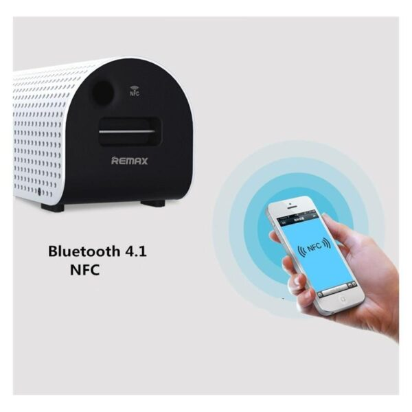 28769 - Портативная Bluetooth колонка-Power Bank Remax H1: 5Вт, гарнитура, 8800 мАч, Bluetooth 4.0, NFS, AUX-кабель, Micro SD