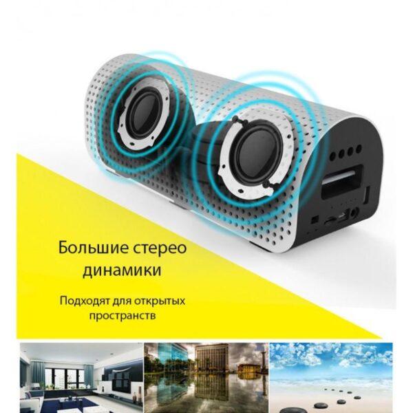 28774 - Портативная Bluetooth колонка-Power Bank Remax H1: 5Вт, гарнитура, 8800 мАч, Bluetooth 4.0, NFS, AUX-кабель, Micro SD