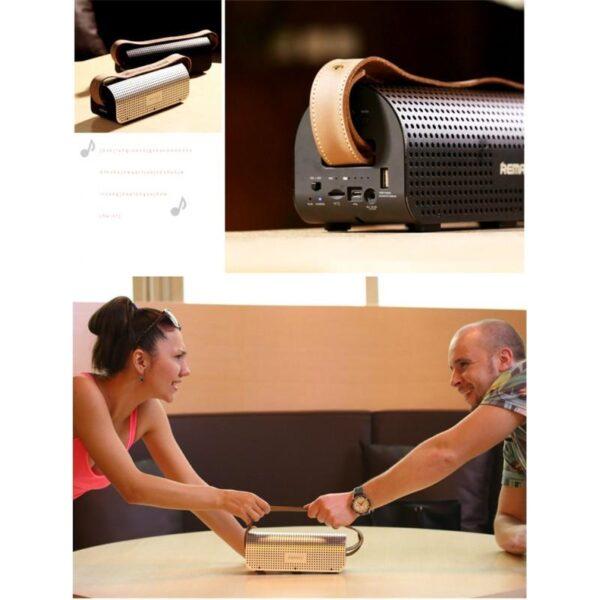 28779 - Портативная Bluetooth колонка-Power Bank Remax H1: 5Вт, гарнитура, 8800 мАч, Bluetooth 4.0, NFS, AUX-кабель, Micro SD