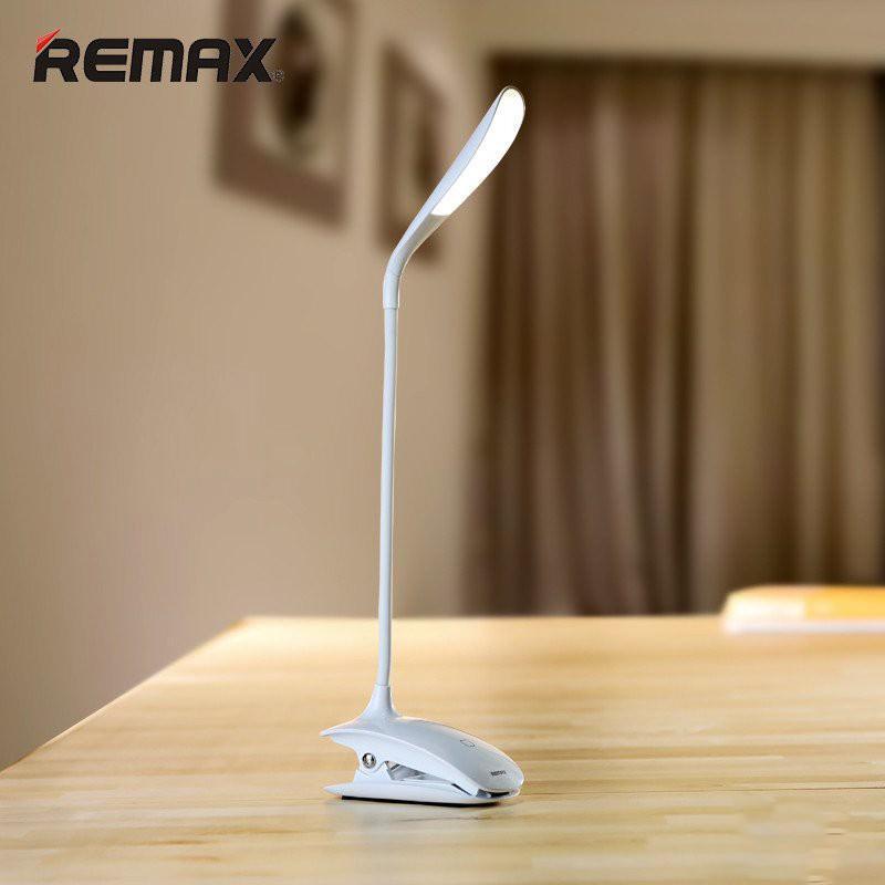 Гибкая настольная LED лампа Remax Milk: 50000 часов, 120 люмен - Прищепка