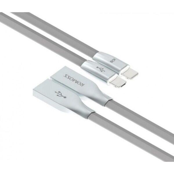28833 - Зарядный гибридный кабель Romoss Rolink Hybrid - Lightning + Micro USB