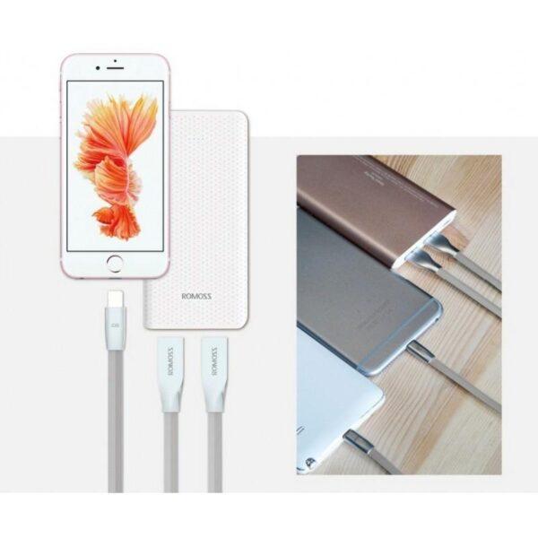28836 - Зарядный гибридный кабель Romoss Rolink Hybrid - Lightning + Micro USB