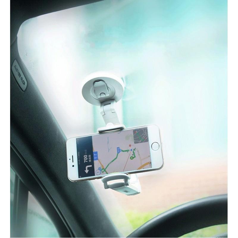 Мульти-держатель для смартфона REMAX: металлический корпус, присоска, трехуровневая регулировка 205754