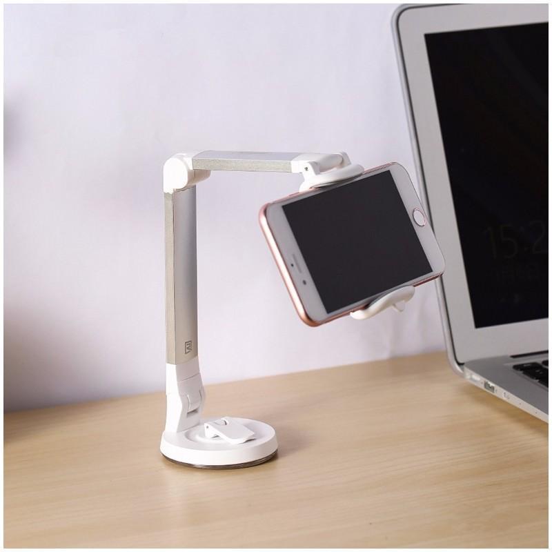 Мульти-держатель для смартфона REMAX: металлический корпус, присоска, трехуровневая регулировка 205755
