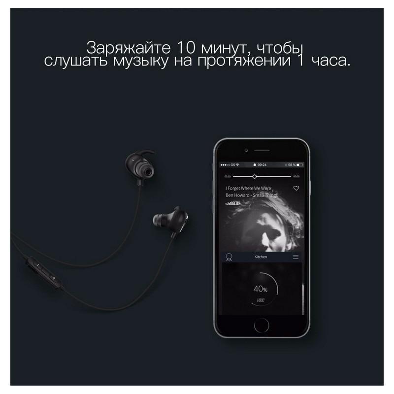 Bluetooth гарнитура QCY QY19 – Apt-X, IPx4, крепления ear hook, 6 часов прослушивания музыки 205792