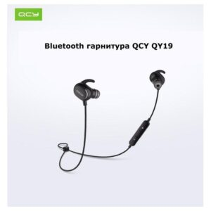 Bluetooth гарнитура QCY QY19 – Apt-X, IPx4, крепления ear hook, 6 часов прослушивания музыки