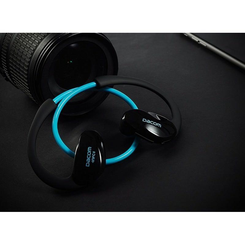 Bluetooth гарнитура Dacom Athlete - NFS, шумоподавление, до 8 часов непрерывной работы - Голубой