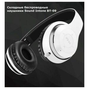 Складные беспроводные наушники Sound Intone BT-09 – Bluetooth 4.0, 3.5 мм аудио, Micro SD, FM-радио, до 8 часов работы