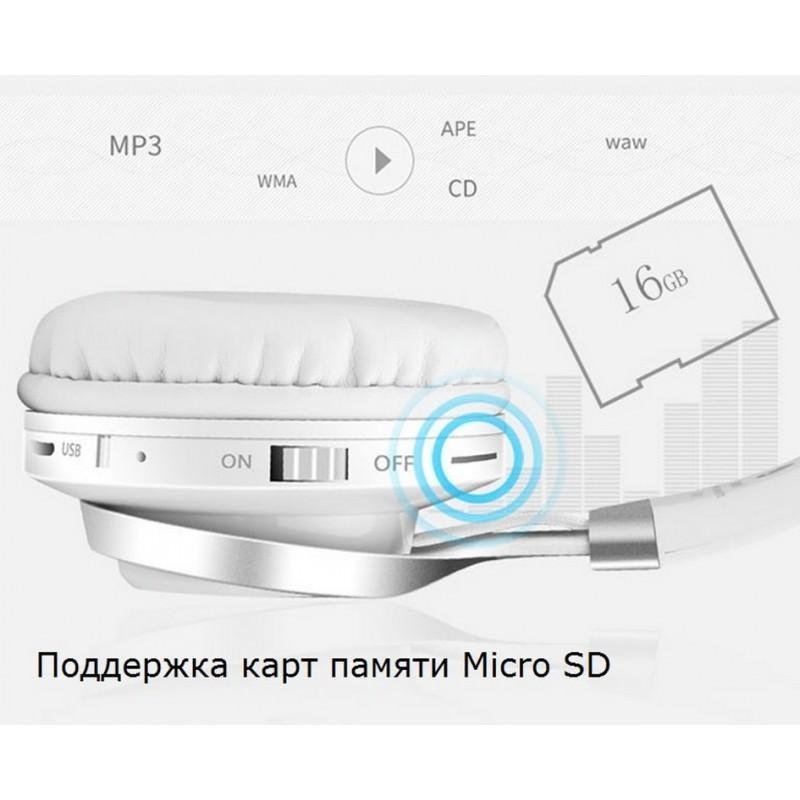 Складные наушники Sound Intone BT-06 – Bluetooth 4.0, 3.5 мм аудио, Micro SD, FM-радио, шумоподавление, Hi-Fi звук 205863