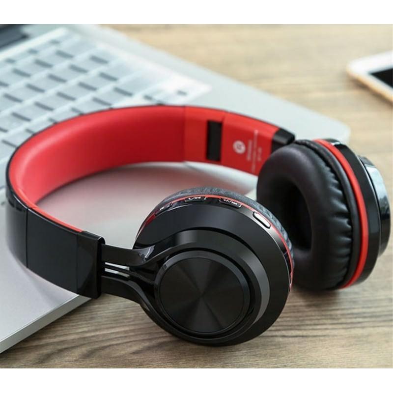 Складные наушники Sound Intone BT-06 – Bluetooth 4.0, 3.5 мм аудио, Micro SD, FM-радио, шумоподавление, Hi-Fi звук 205865